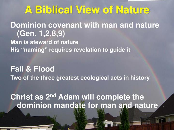 A Biblical View of Nature