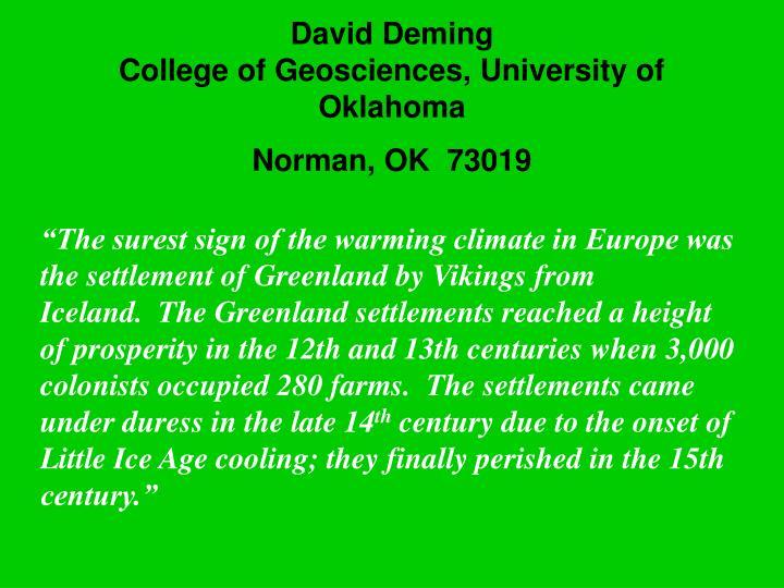 David Deming