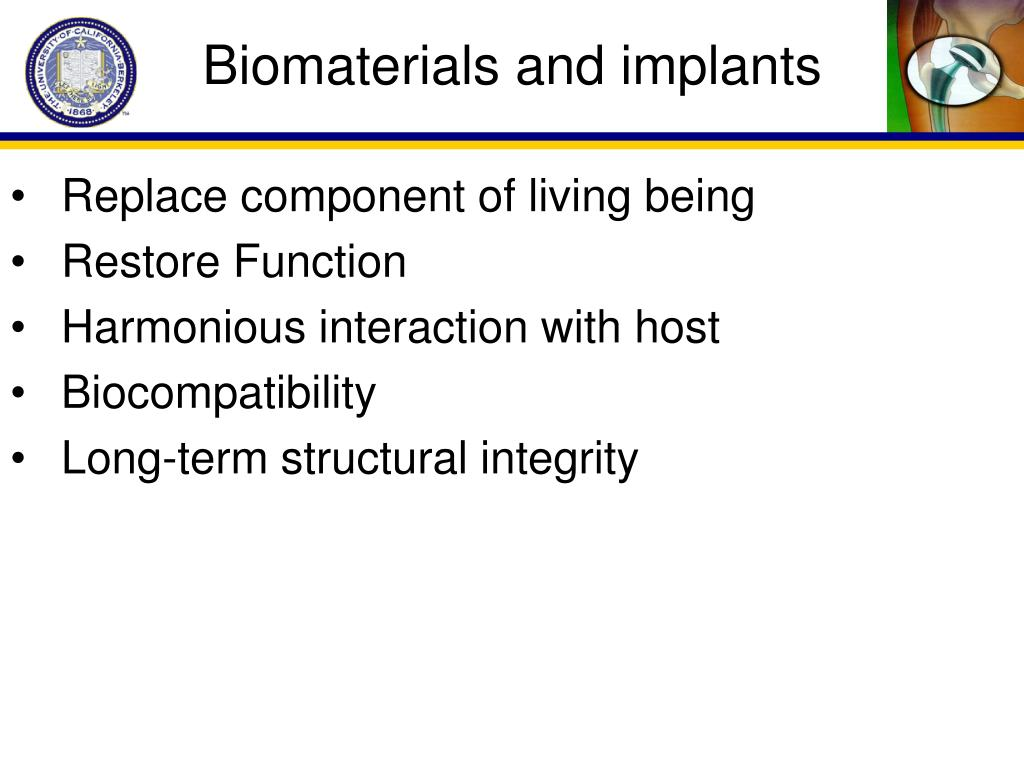 Biomaterials and implants