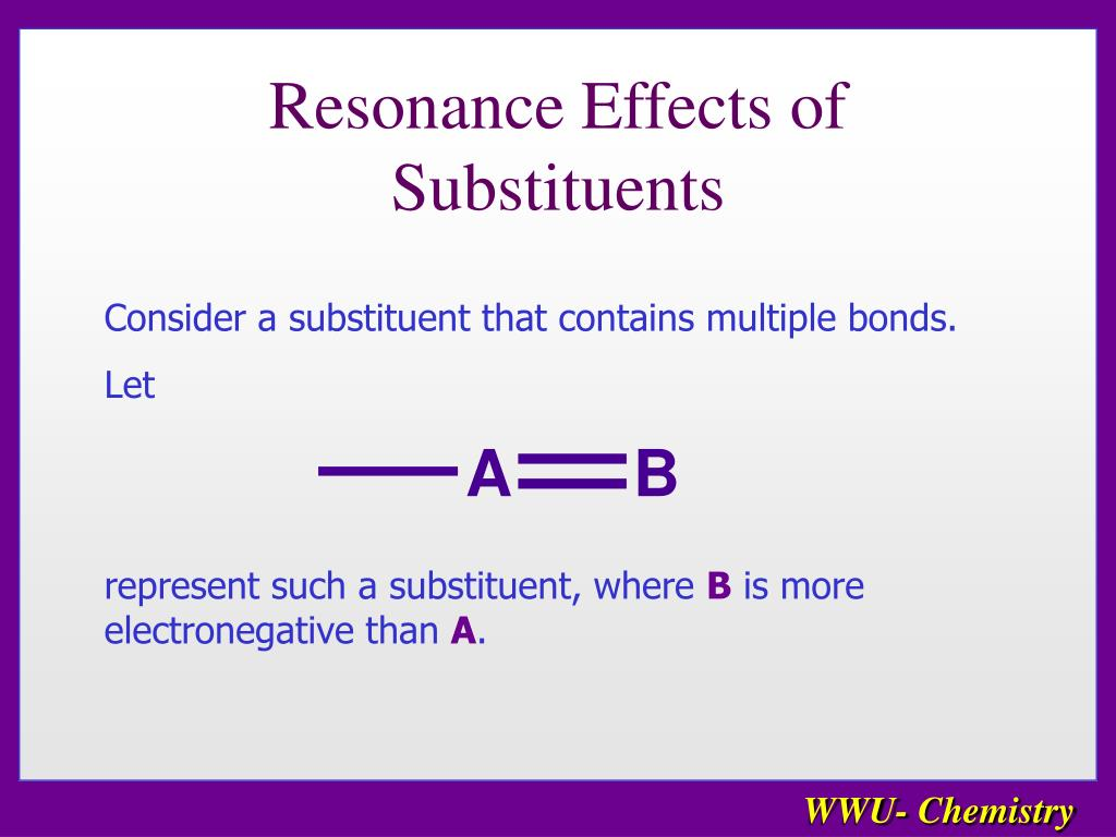 Resonance Effects of Substituents