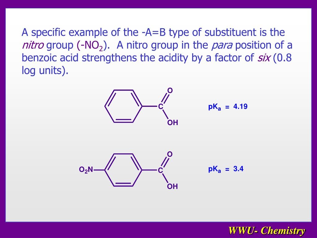 A specific example of the -A=B type of substituent is the