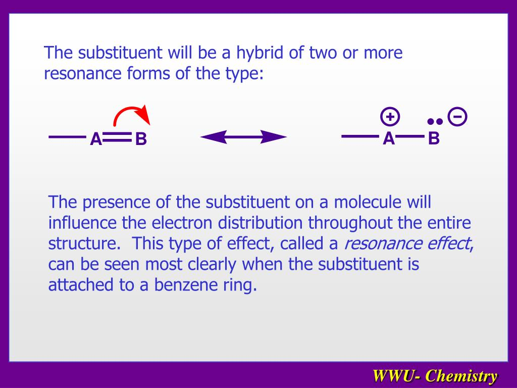 The substituent will be a hybrid of two or more resonance forms of the type: