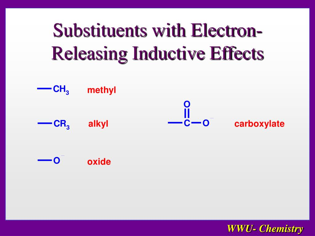 Substituents with Electron-Releasing Inductive Effects