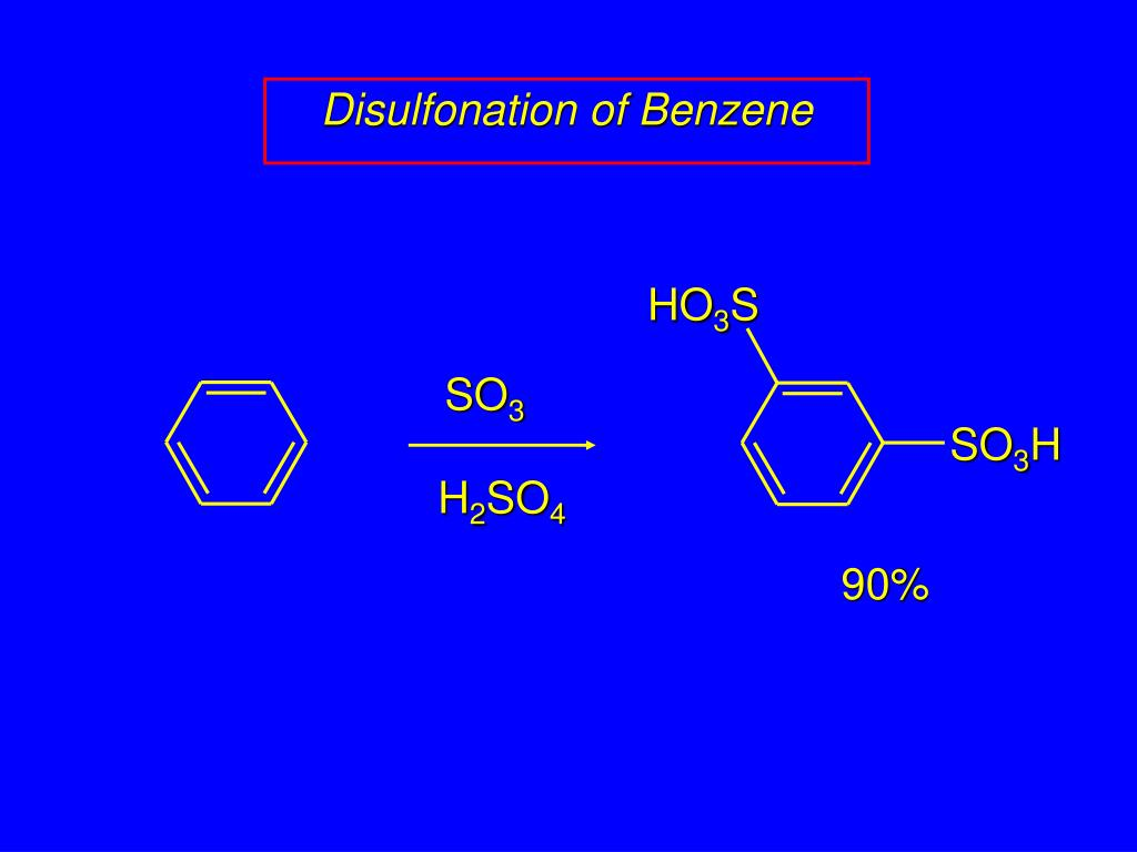 Disulfonation of Benzene