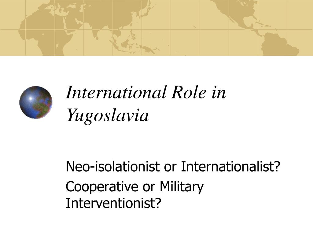 International Role in Yugoslavia