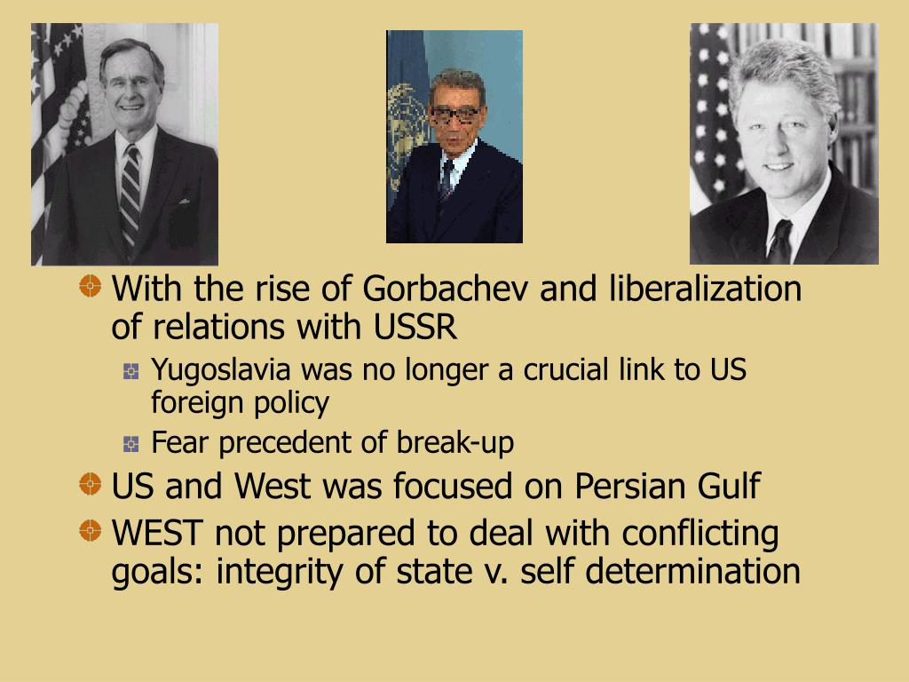With the rise of Gorbachev and liberalization of relations with USSR