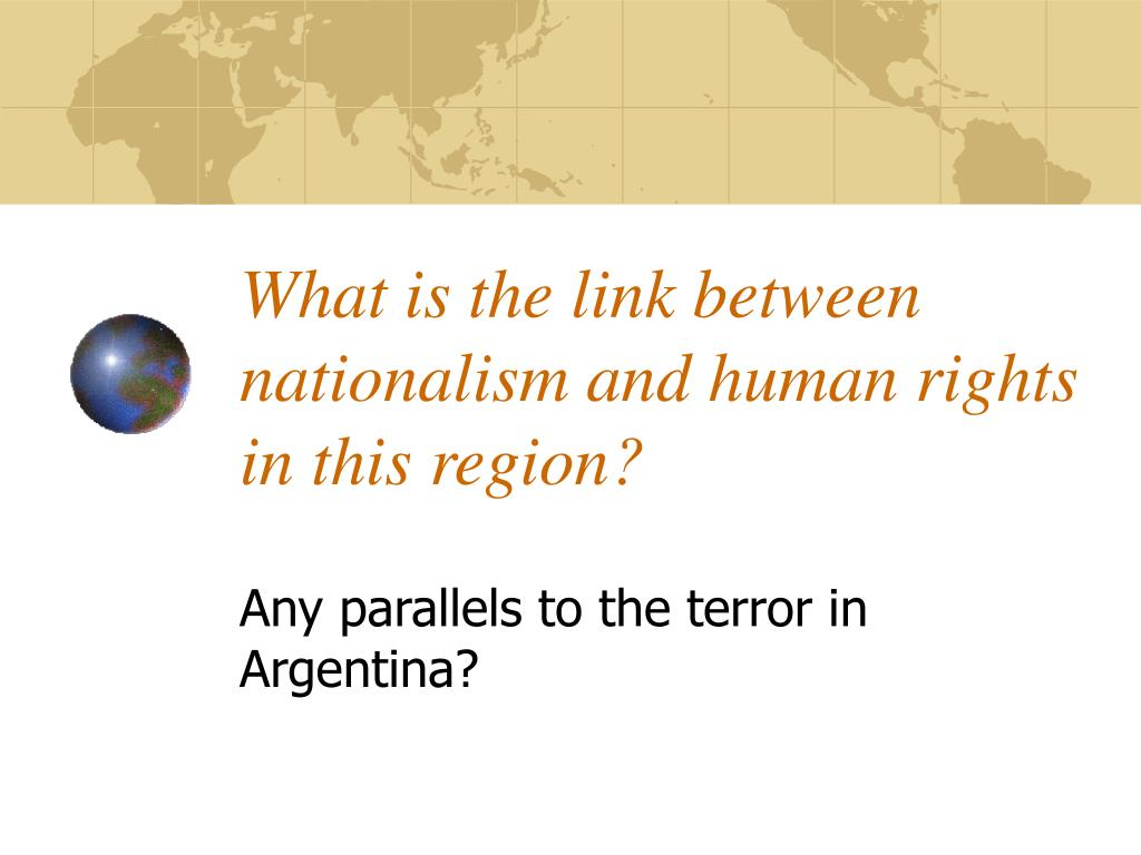 What is the link between nationalism and human rights in this region?