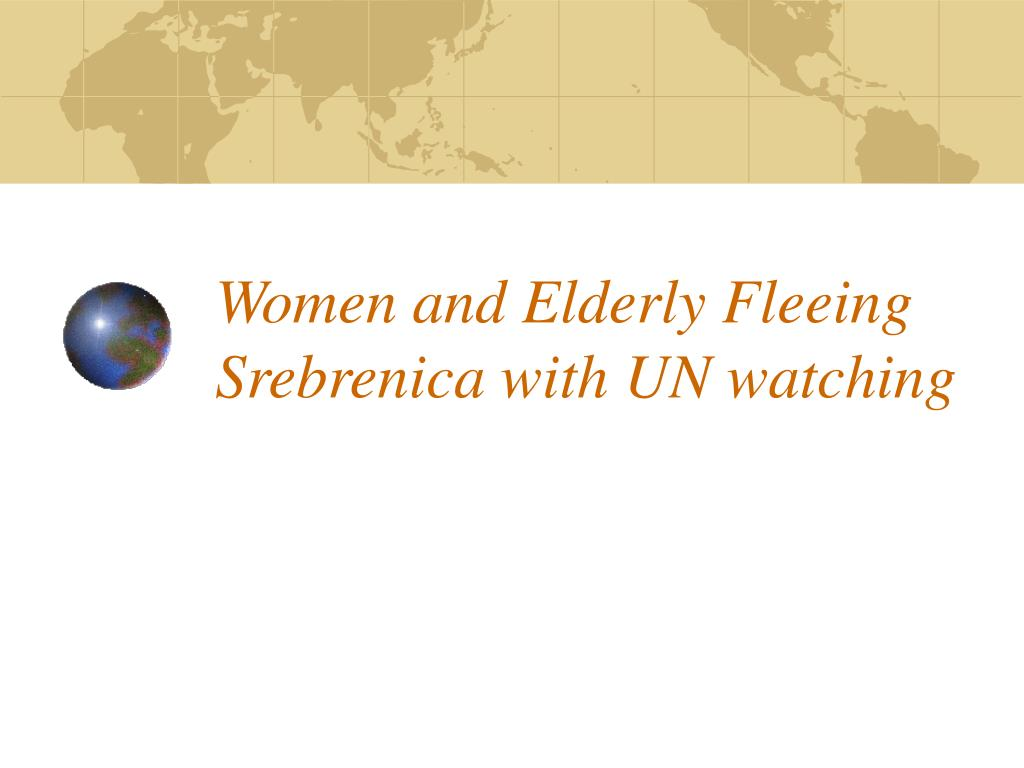 Women and Elderly Fleeing Srebrenica with UN watching