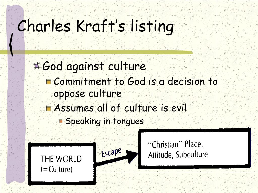 Charles Kraft's listing