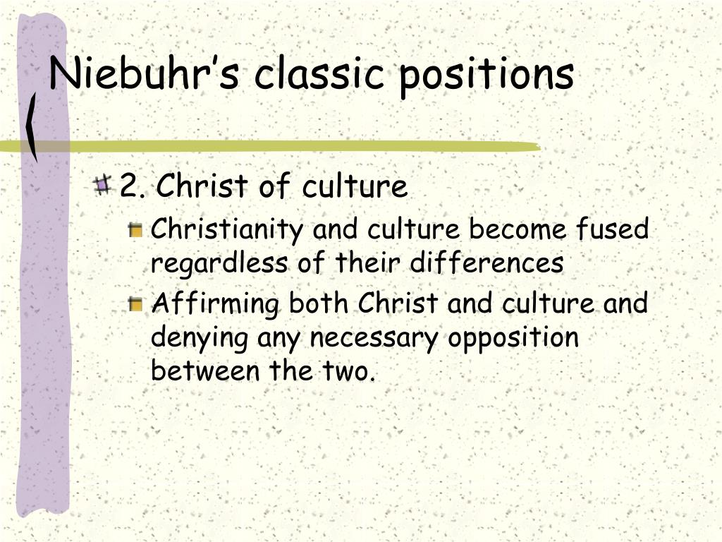 Niebuhr's classic positions