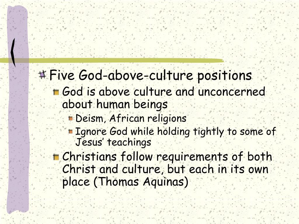 Five God-above-culture positions