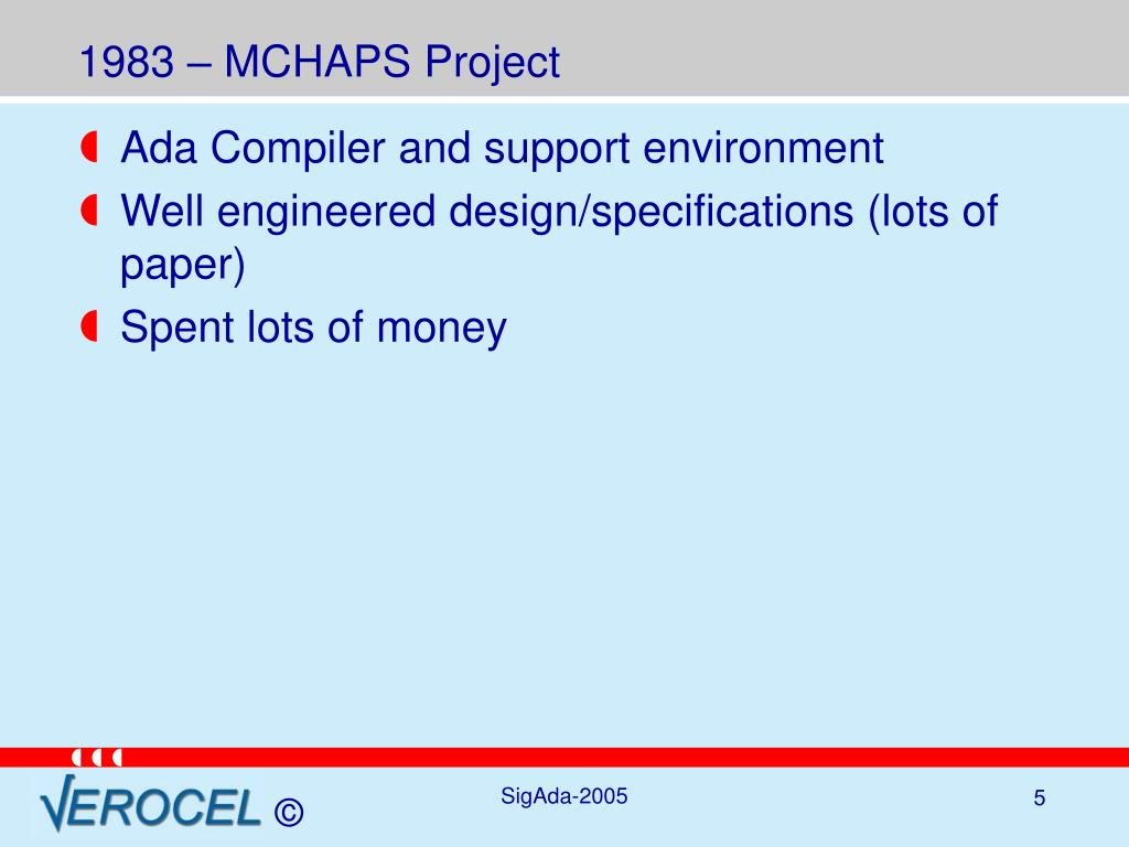 1983 – MCHAPS Project
