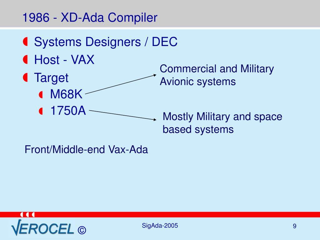 1986 - XD-Ada Compiler