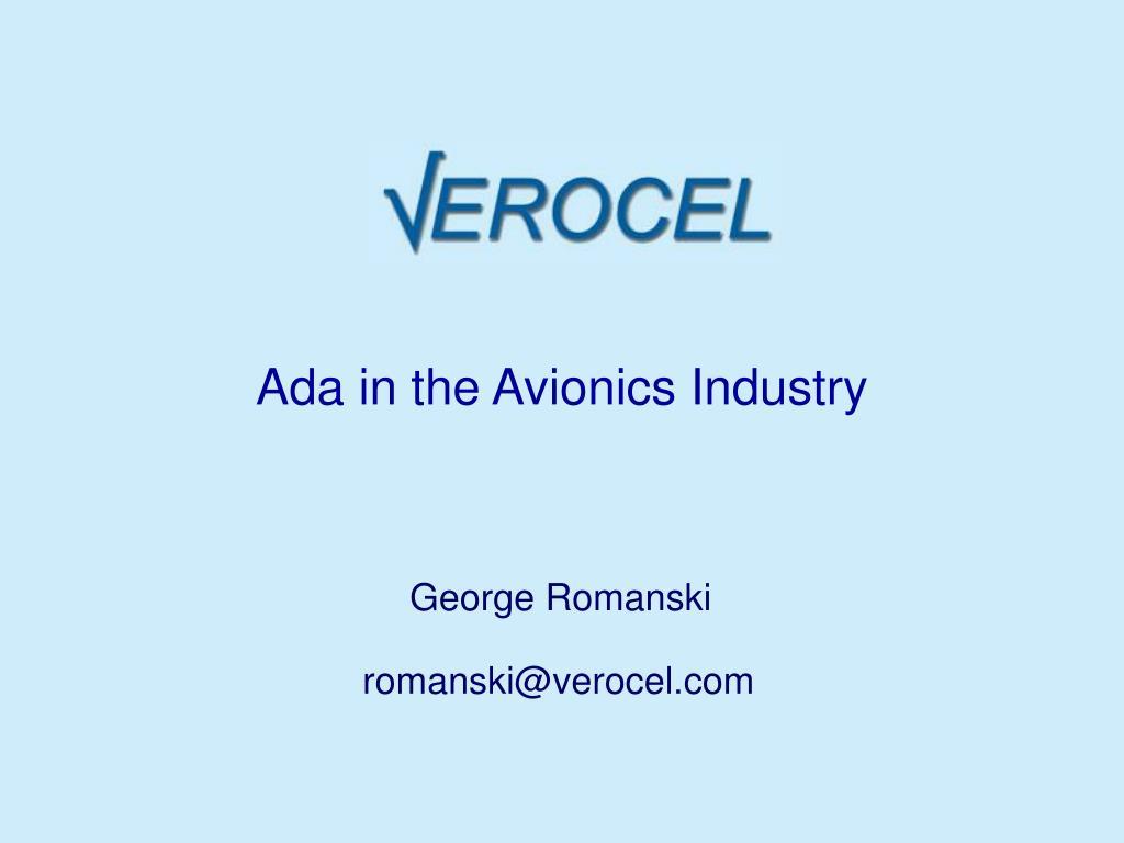 Ada in the Avionics Industry