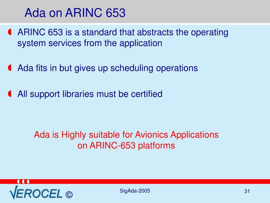 Ada on ARINC 653