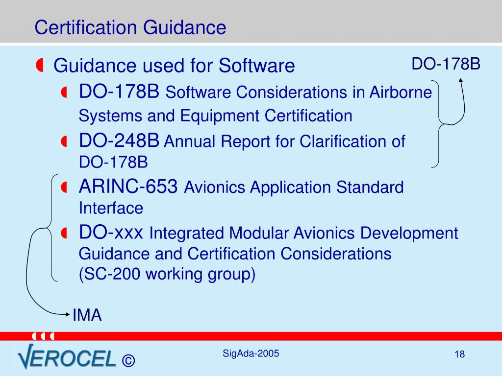 Certification Guidance