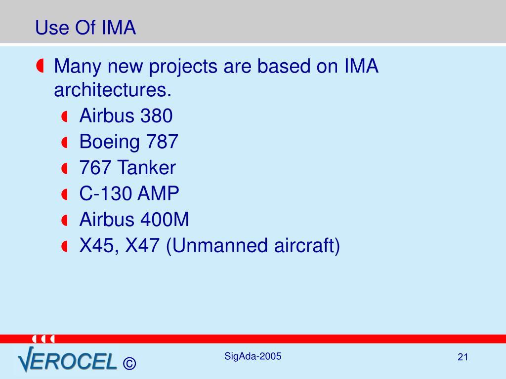 Use Of IMA