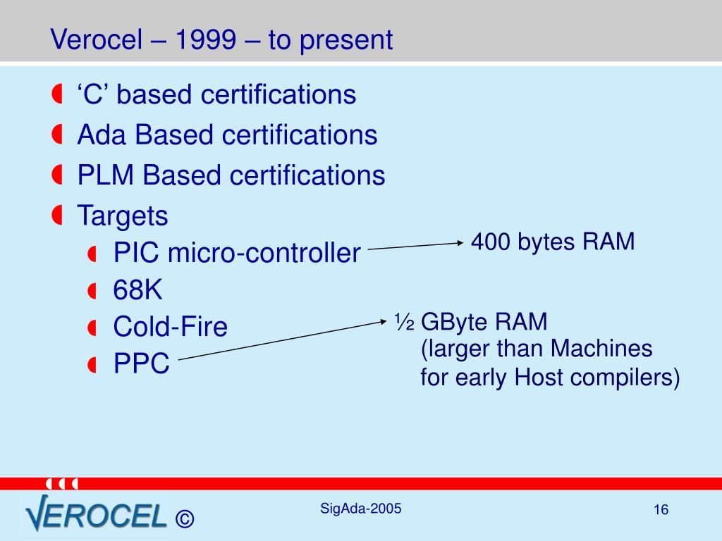 Verocel – 1999 – to present