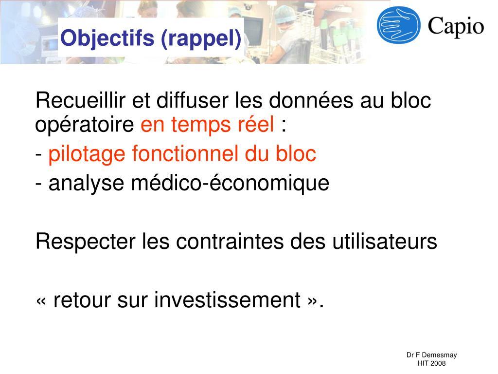 Objectifs (rappel)