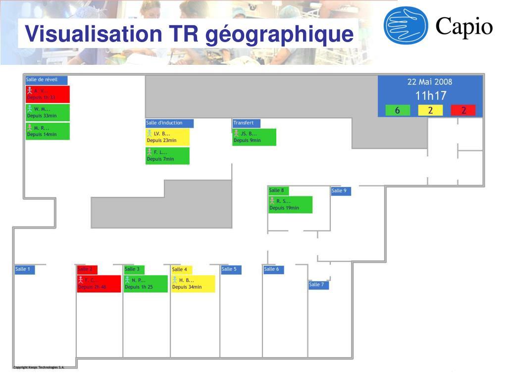 Visualisation TR géographique
