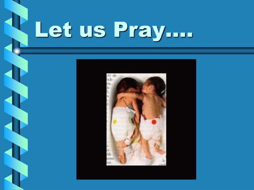 Let us Pray….