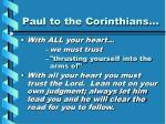 paul to the corinthians
