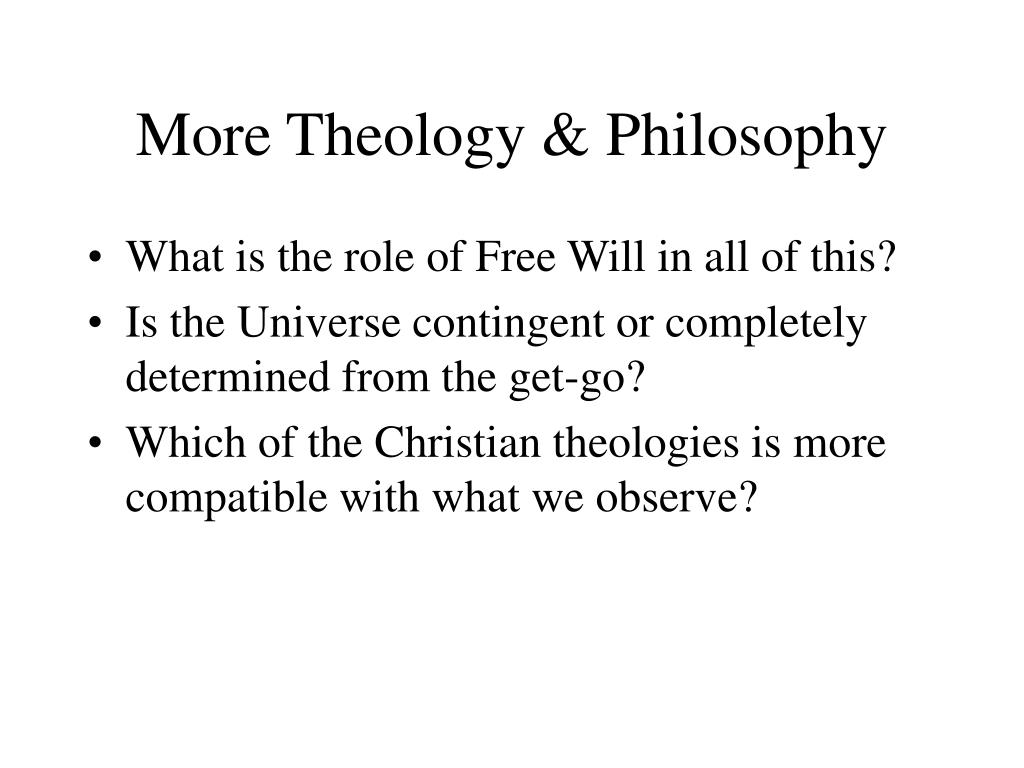 More Theology & Philosophy