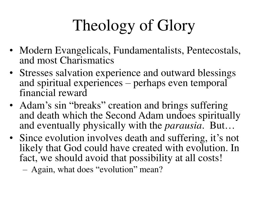 Theology of Glory