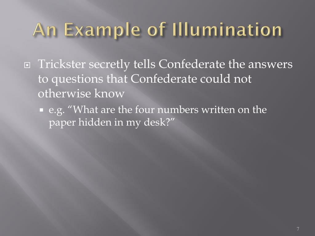 An Example of Illumination
