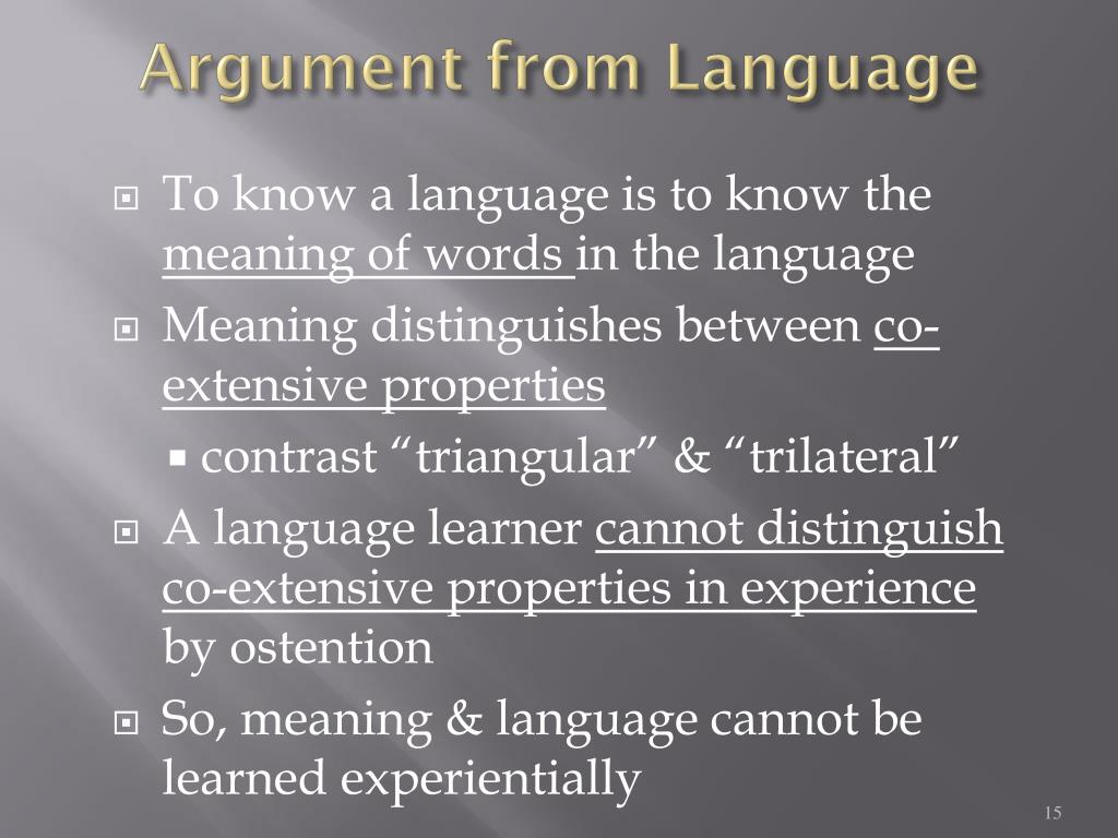 Argument from Language
