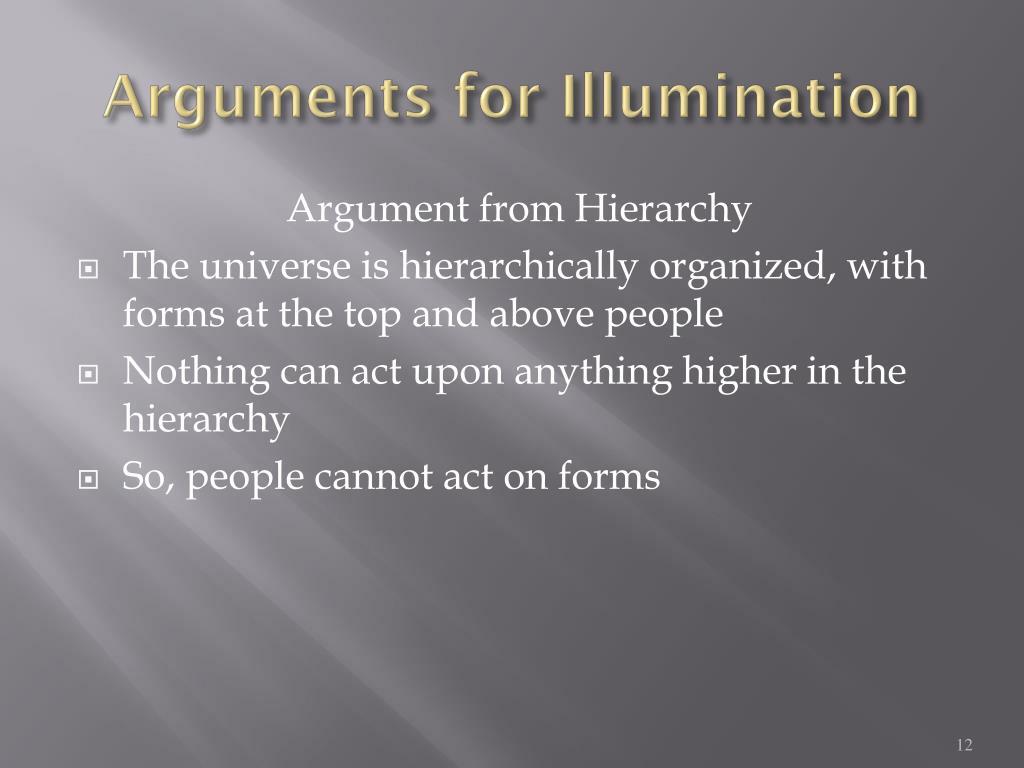Arguments for Illumination