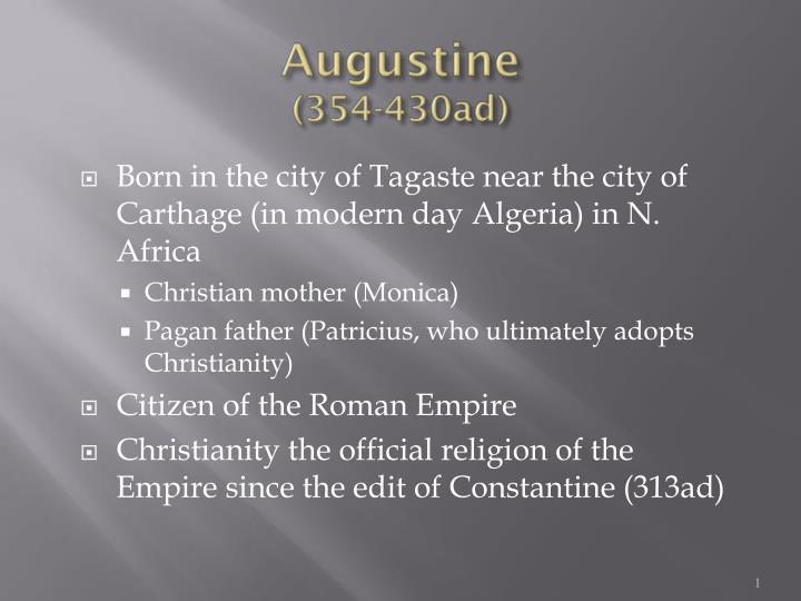 Augustine 354 430ad