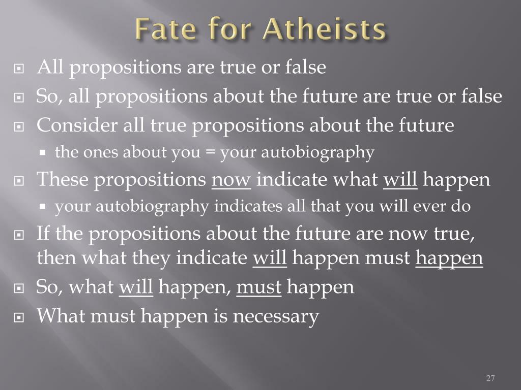 Fate for Atheists