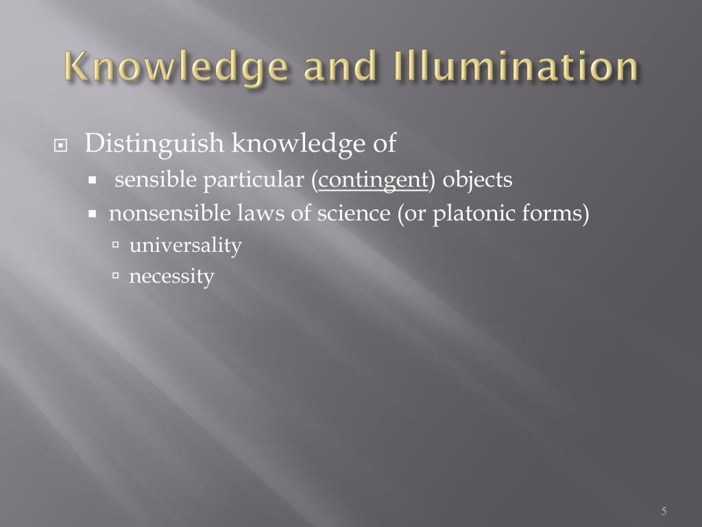 Knowledge and Illumination