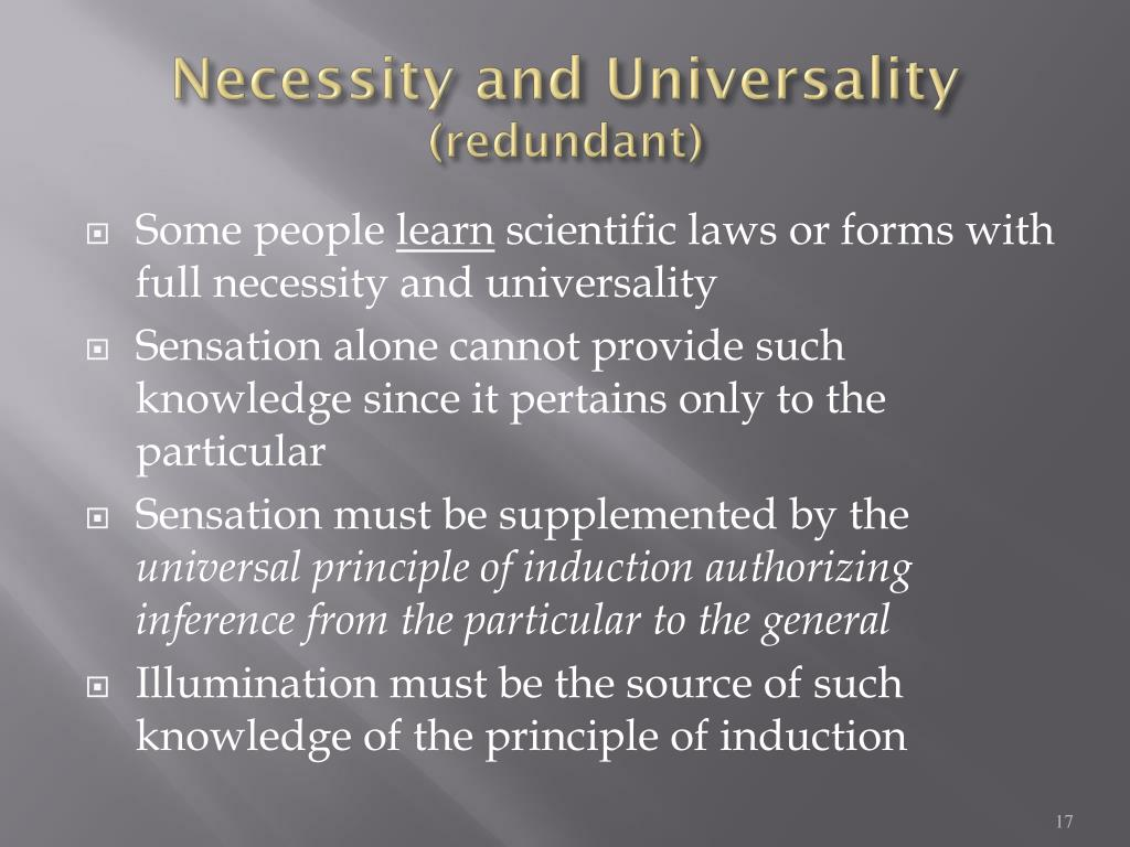 Necessity and Universality