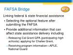 fafsa bridge