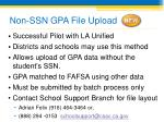 non ssn gpa file upload