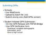 submitting gpas