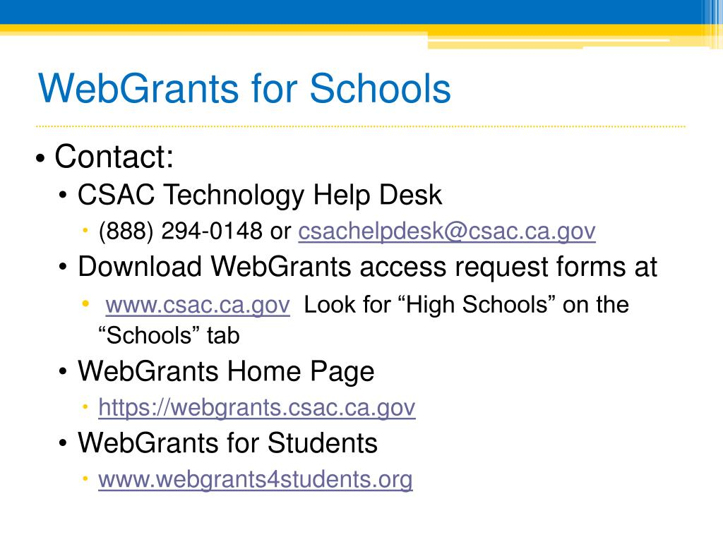 WebGrants for Schools