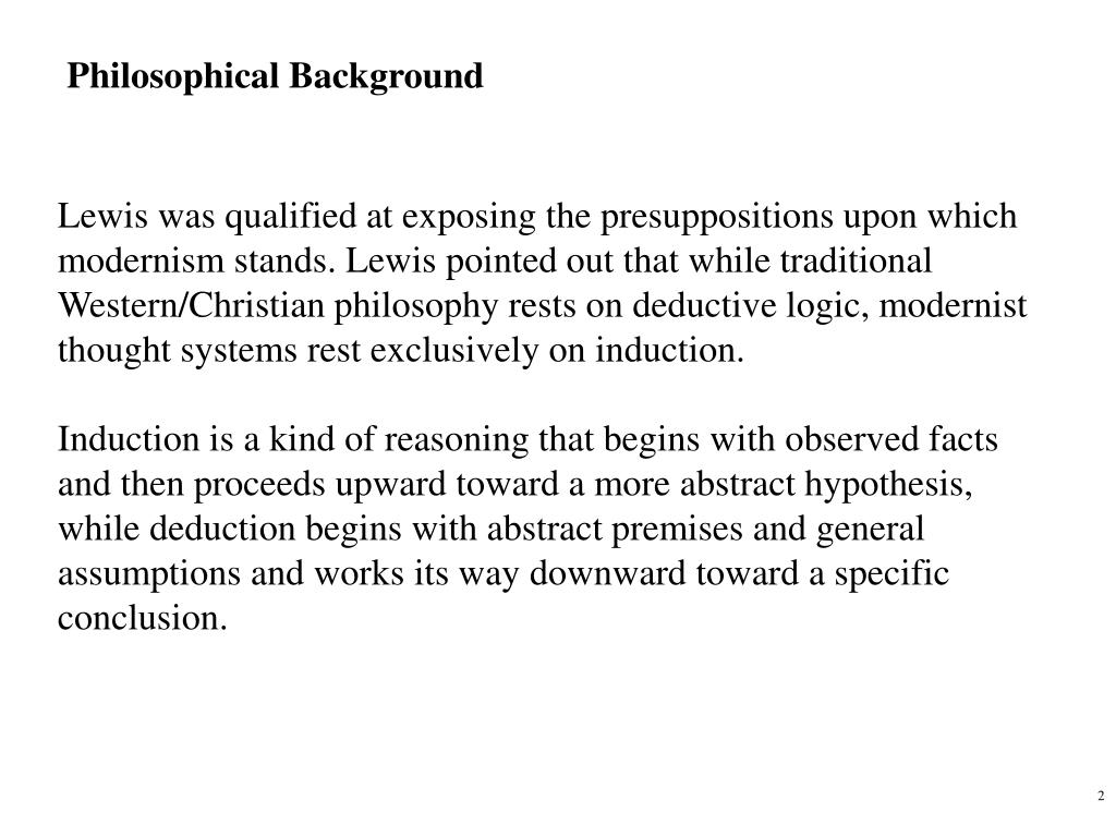 Philosophical Background