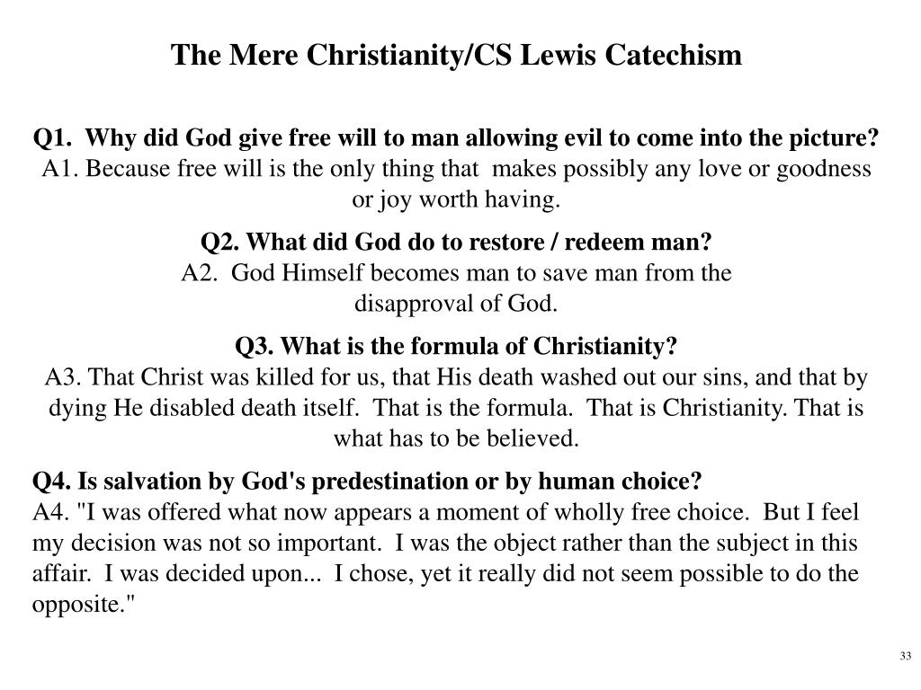 The Mere Christianity/CS Lewis Catechism
