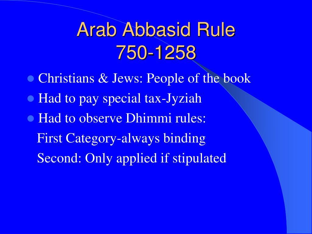 Arab Abbasid Rule