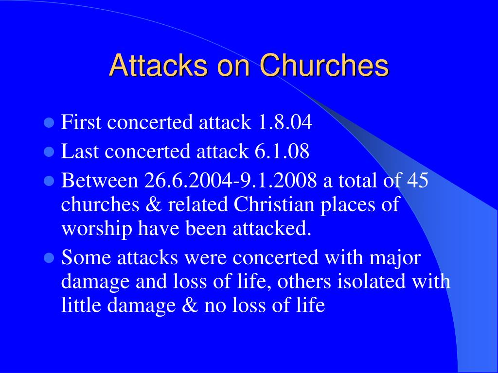 Attacks on Churches