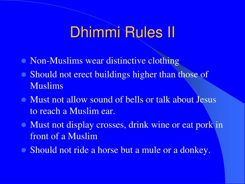 Dhimmi Rules II