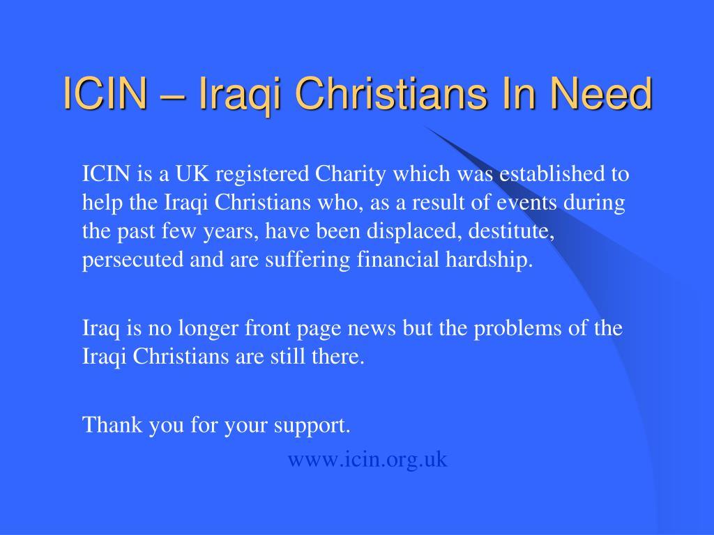ICIN – Iraqi Christians In Need
