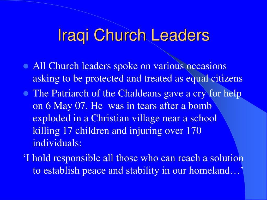 Iraqi Church Leaders