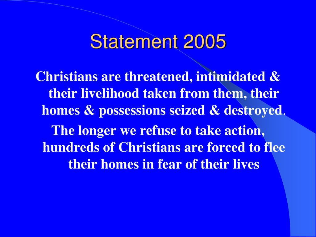 Statement 2005