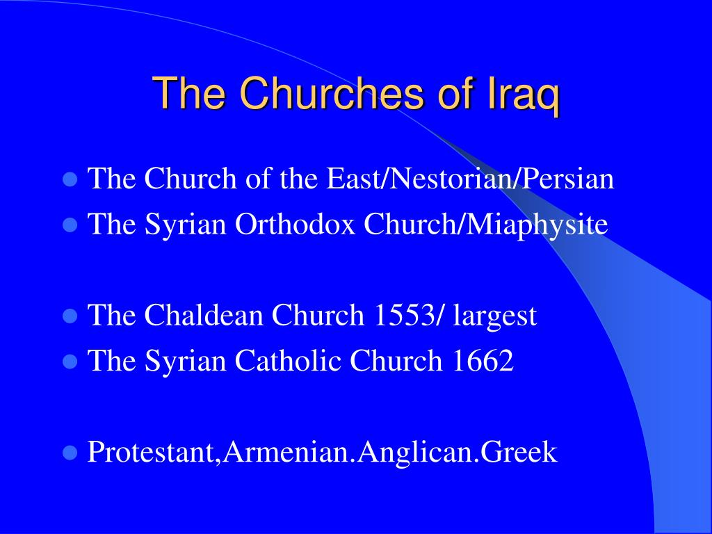 The Churches of Iraq
