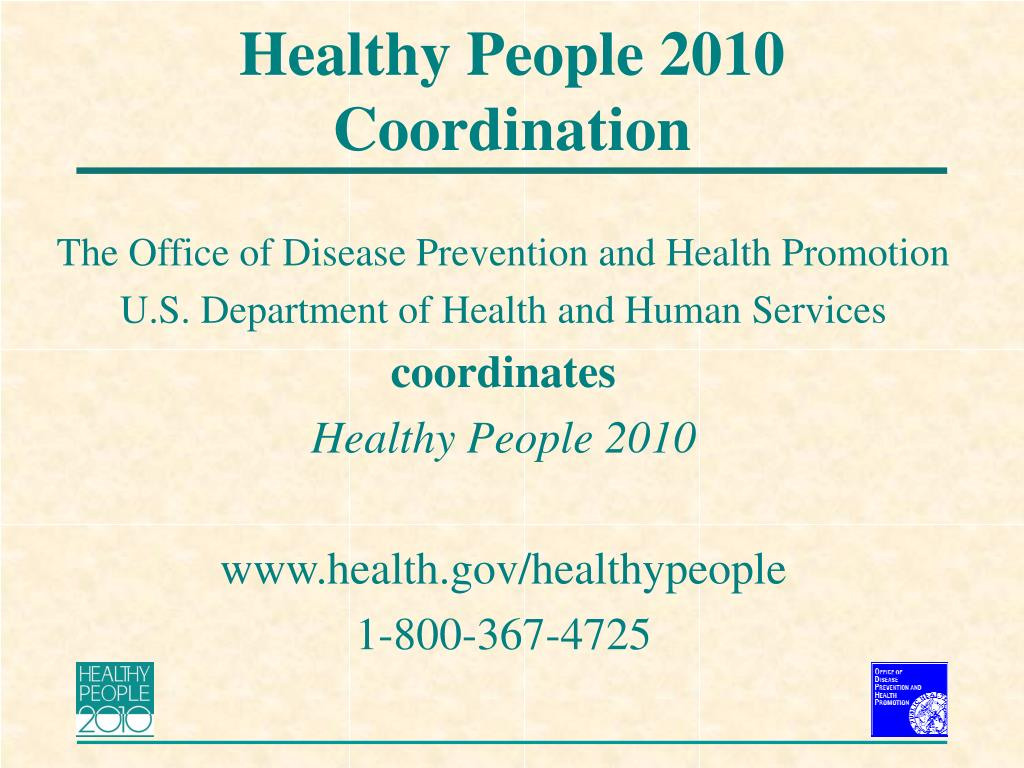 Healthy People 2010 Coordination