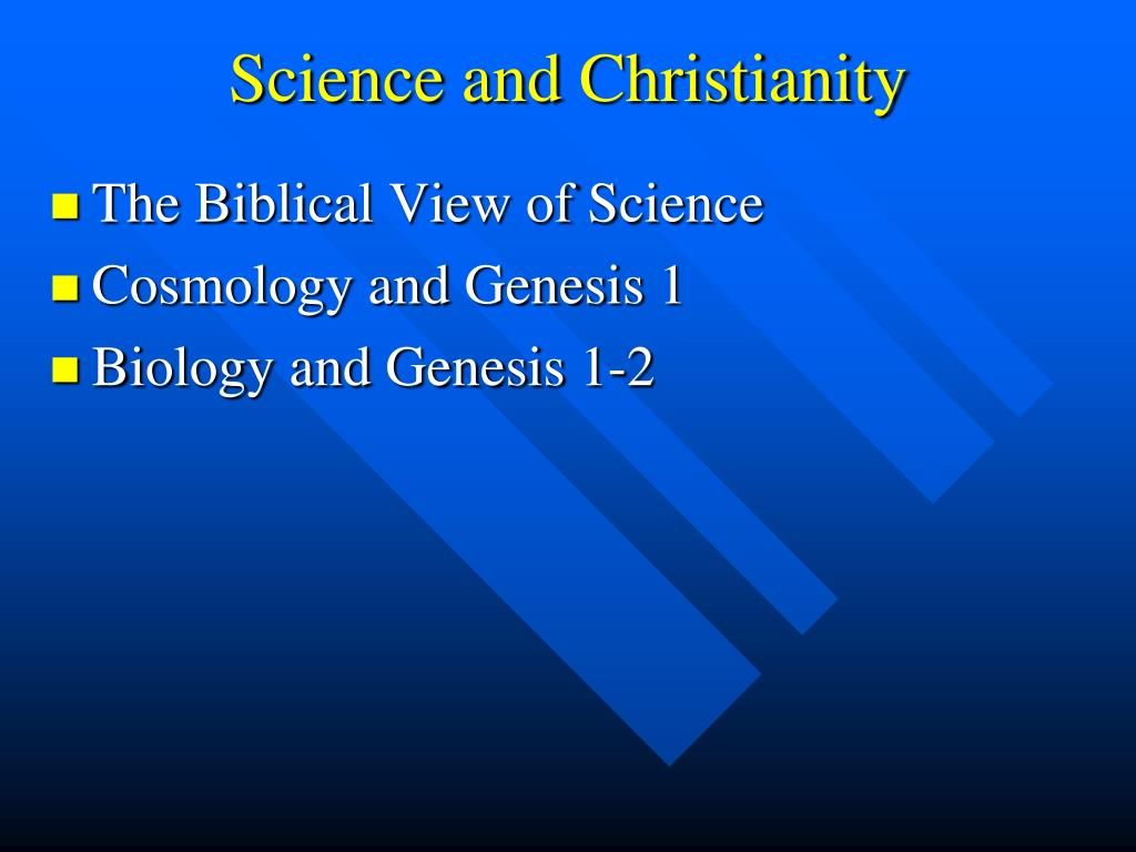 Science and Christianity